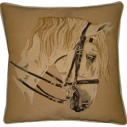 Lippizzanna Grey Horse Tapestry Cushion Cover