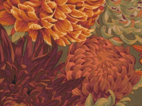 Kaffe Fassett Classics - Japanese Chrysanthemum Brown PJ41 BROWN Quil