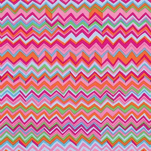 Kaffe Fassett Classics - Zig Zag Pink PWBM043 PINKX Quilt Fabric