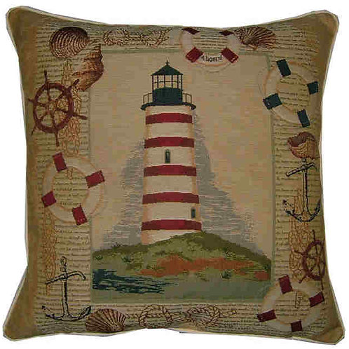 Lighthouse on the Hill Tapestry Cushion Cover