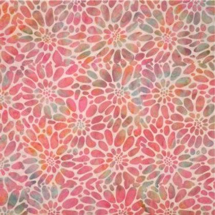 Mirah Zriya Pearl Drops Batik Canyon Pink P/PL-01-5693 Quilt Fabric