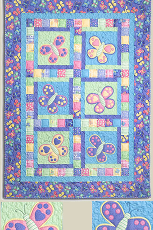Kids Quilts 'Butterfly Kisses' Single Quilt Pattern