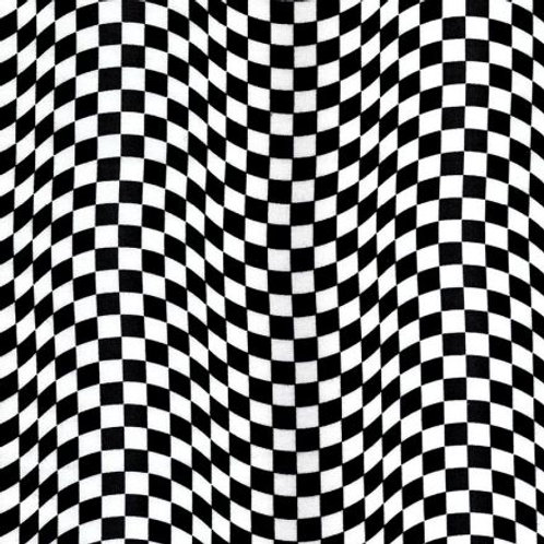 Timeless Treasures Chequered Flag Black & White C5402 Quilt Fabric