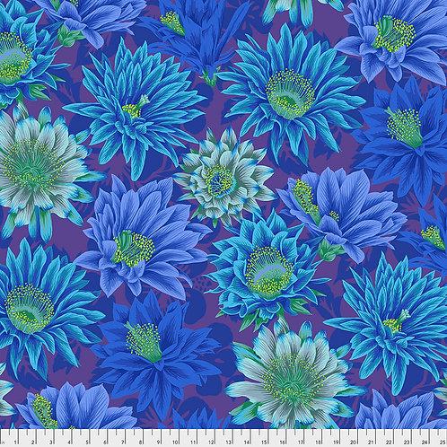 Kaffe Fassett Spring 2019 - Cactus Flower Blue PWPJ096 BLUE Quilt Fabric