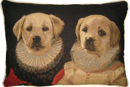 Thierry Poncelet Labrador Puppies Tapestry Oblong Cushion Cover