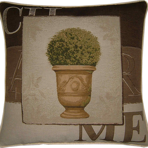 Charme Tree in Pot Design #2 Tapestry Cushion Cover