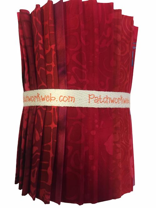 "Batik ""Red Berry"" Designer Roll - 20 x 5"" x WOF"