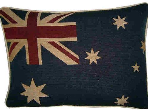 Australian Aussie Flag Tapestry Oblong Cushion Cover