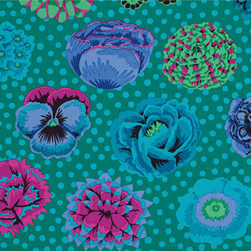 Kaffe Fassett Classics - Big Blooms Emerald PWGP091 EMERA Quilt Fabric
