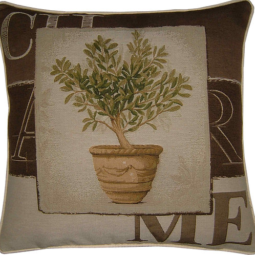 Charme Tree in Pot Design #1 Tapestry Cushion Cover