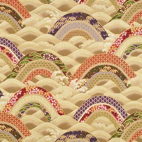 Quiltgate Hyakka Ryoran Col 05 Quilt Fabric