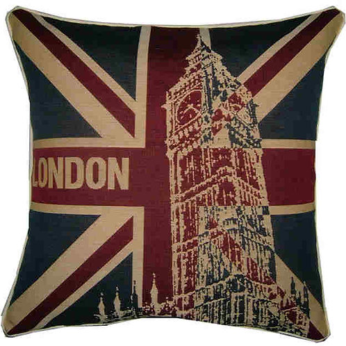 London Big Ben Union Jack Tapestry Cushion Cover