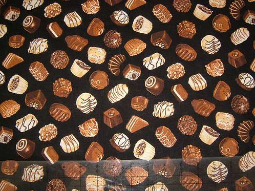 Nutex Novelty Sweet Cafe Chocolates Quilt Fabric