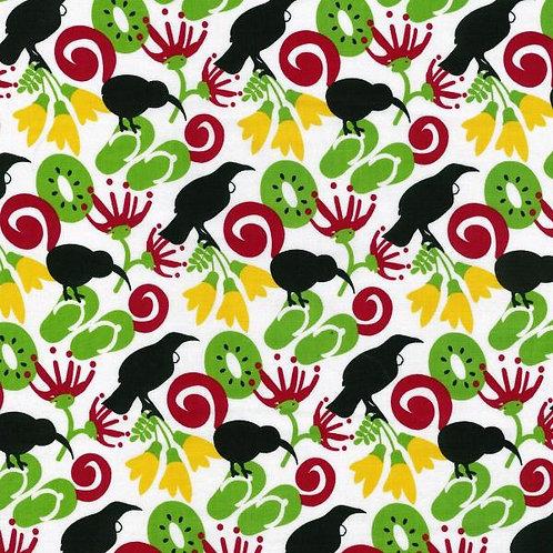 Nutex Kiwiana Kiwi Express Kiwi Icons Novelty Quilt Fabric