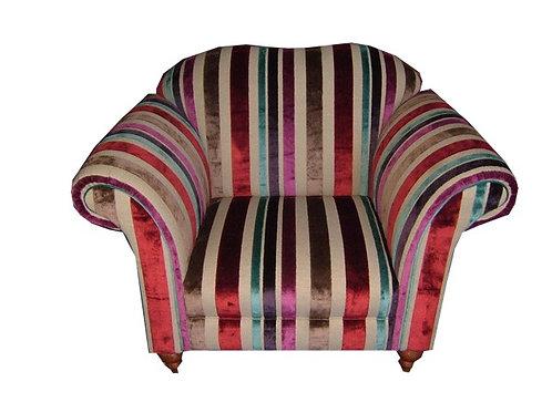 Restored Chair GP & J Baker Cut Velvet - Gorgeous