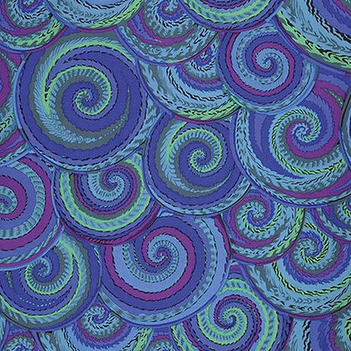 Kaffe Fassett Classics - Curly Baskets PWPJ066 Cobalt Quilt Fabric