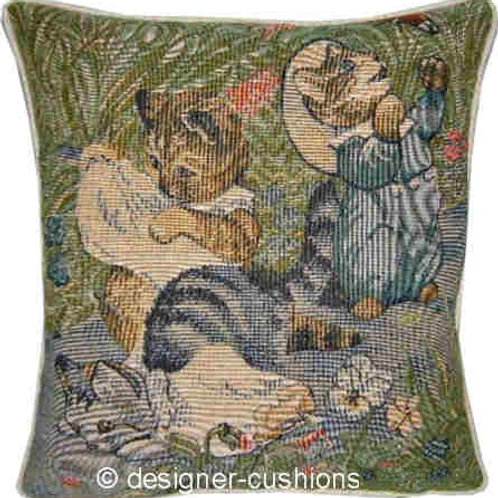 Beatrix Potter Three Kittens Tapestry Cushion Cover