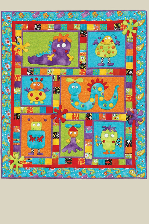 Kids Quilts 'Monster Patch' Cot Quilt Pattern
