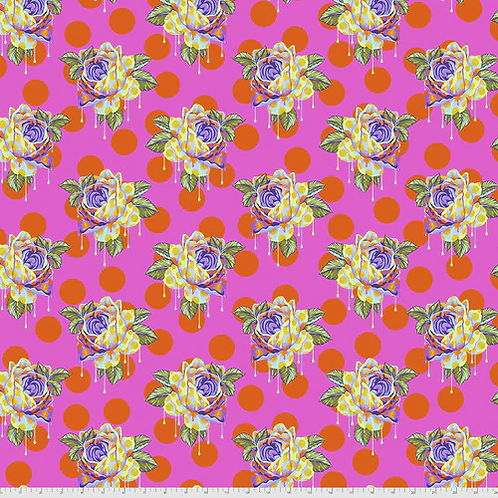 """Tula Pink """"Curiouser"""" Painted Roses Daydream PWTP161 Quilt Fabric"""
