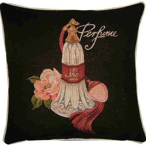 Allure She Perfume Metallic Tapestry Cushion Cover