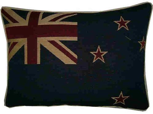 New Zealand Kiwi Flag Tapestry Oblong Cushion Co