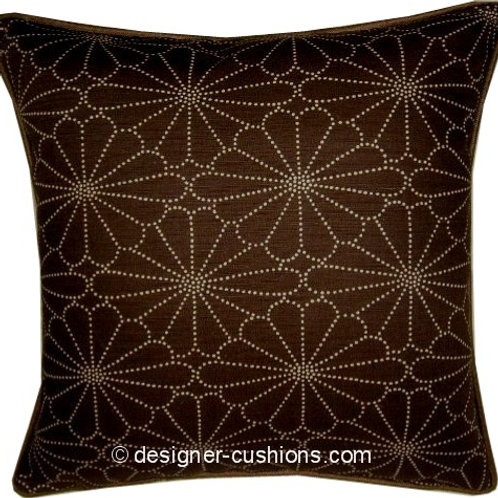 Romo Kenzan Chocolate Cushion Cover