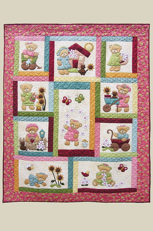 Kids Quilts 'Daisy Bear' Single Quilt Pattern