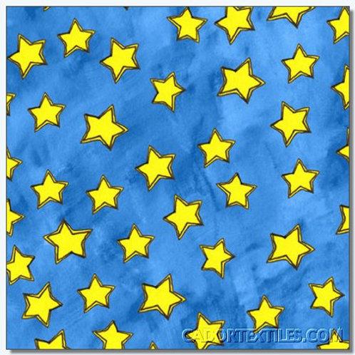 Tara's Brights Blue Stars Quilt Fabric