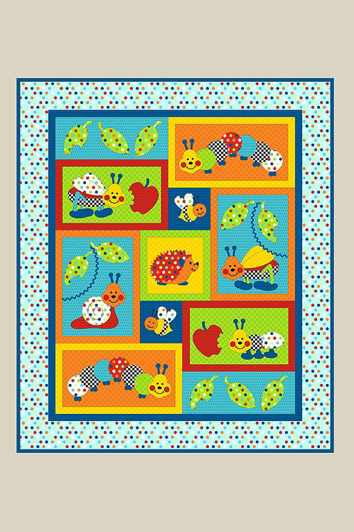 Kids Quilts 'Bugs-A-Lot' Cot Quilt Pattern
