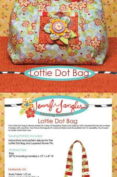Jennifer Jangles Pattern 'Lottie Dot Bag'