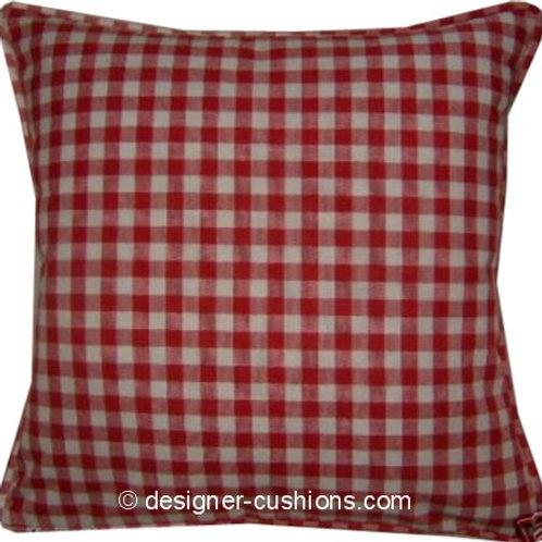 Laura Ashley Gingham Scarlet Cushion Cover
