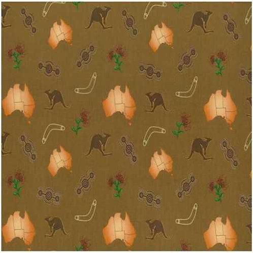 Nutex Australiana Iconic Australia Quilt Fabric