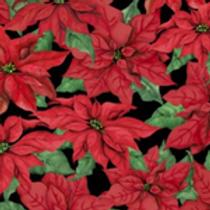 Robert Kaufman Pointsetta Flowers 33775/937 Quilt Fabric