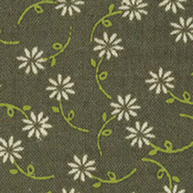 **SPECIAL** Daisy Chain Floral Olive Green Quilt Fabric