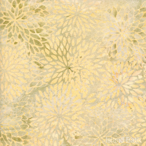 Island Batiks IKF13H-J1 Cream Floral Quilt Fabric