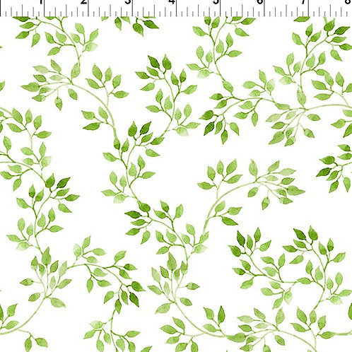 In the Beginning 'Pretty in Pink' Green Sprig 6PIP-1 Quilt Fabric