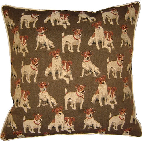 Jack Russell Allover Tapestry Cushion Cover