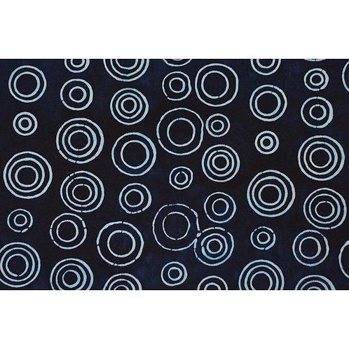 Mirah Zriya Mood Indigo Batik Blue Circles P/MG-04-2015 Quilt Fabric