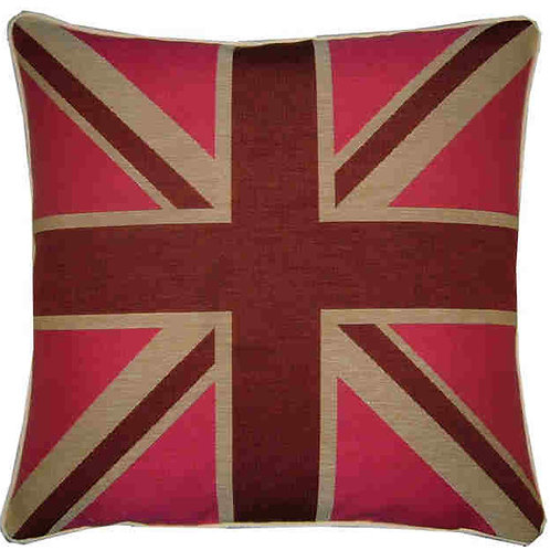 Union Jack Pink Flag Tapestry Cushion Cover