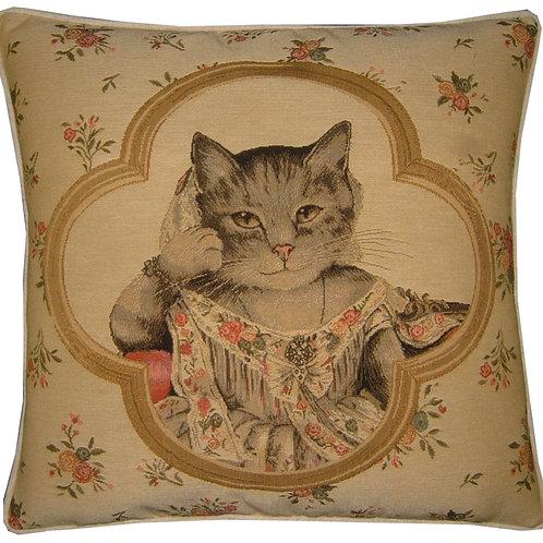 Susan Herbert Framed Jayne Cat Tapestry Cushion Cover