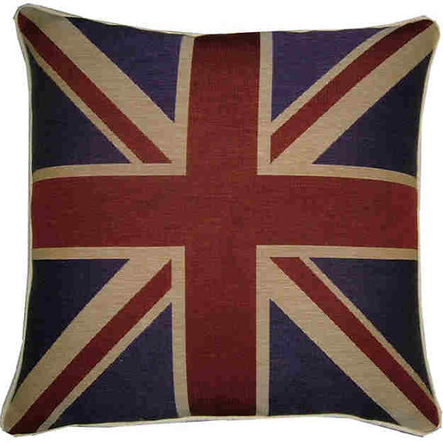 Union Jack Purple Tapestry Flag  Cushion Cover