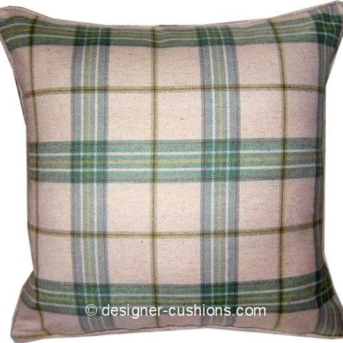 Laura Ashley Harvey Eau De Nil Check Cushion Cover