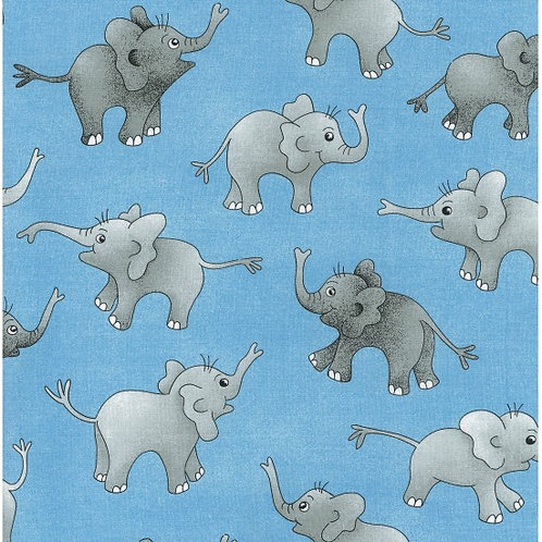 Nutex Novelty Up & Away Elephants 80000 Col2 Quilt Fabric