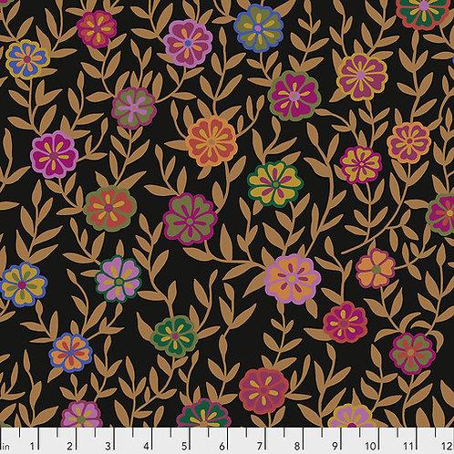 Kaffe Fassett Feb2020 - Busy Lizzy PWGP175 BLACK Quilt Fabric