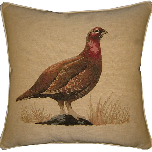 Grouse Hunting Bird Tapestry Cushion Cover