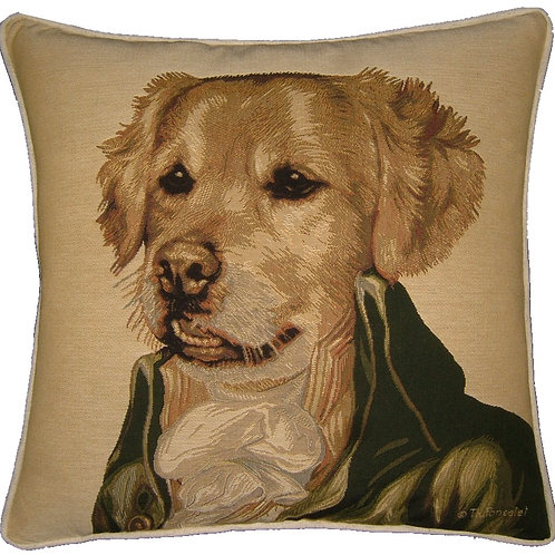 Thierry Poncelet Golden Retriever Tapestry Cushion Cover