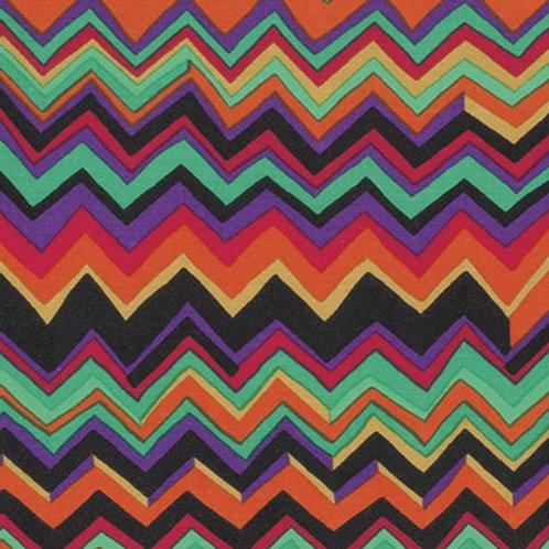 Kaffe Fassett Classics - Zig Zag Jade PWBM043 JADEX Quilt Fabric