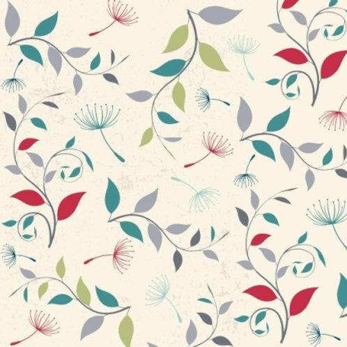 Elizabeth Studios Dandelions - Cream/Multi Quilt Fabric