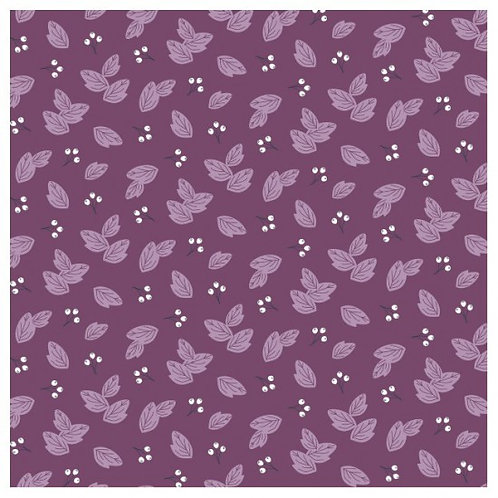 Nutex Novelty Sunshine Dark Purple Leaves 80560 Col4 Quilt Fabric