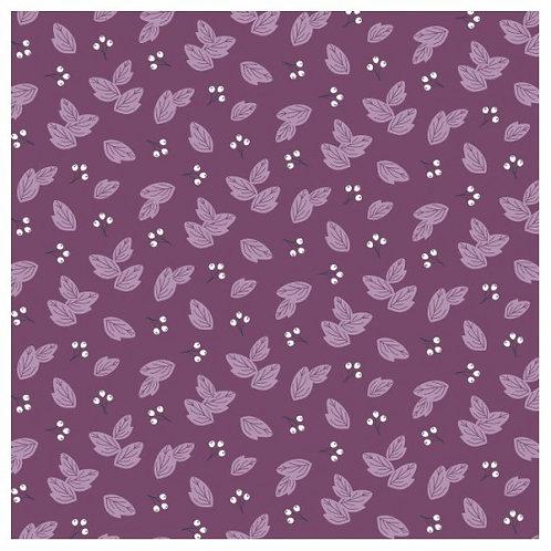 Nutex Novelty Sunshine Dark Purple Leaves 80560 Col4 Quilt Fabric